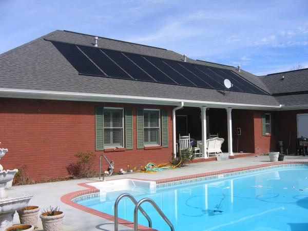 solar pool heating system
